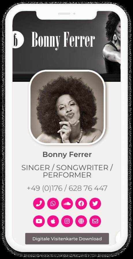 Bonny Ferrer Digitale Visitenkarte