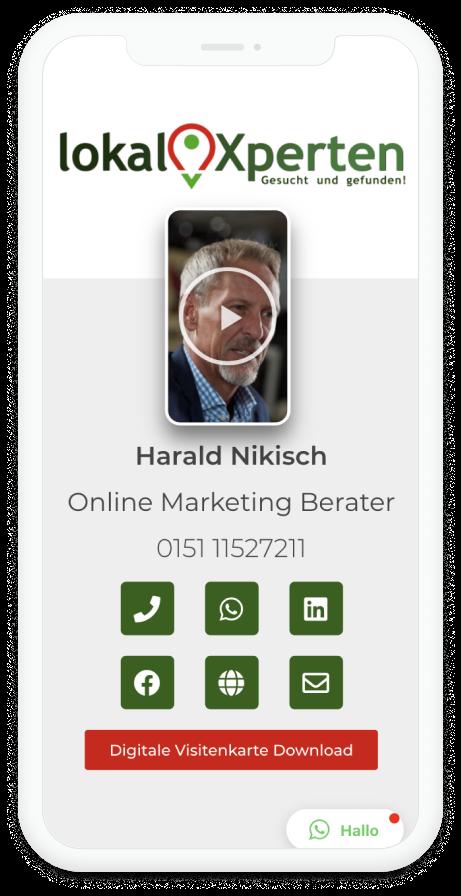 Harald Nikisch Digitale Visitenkarte